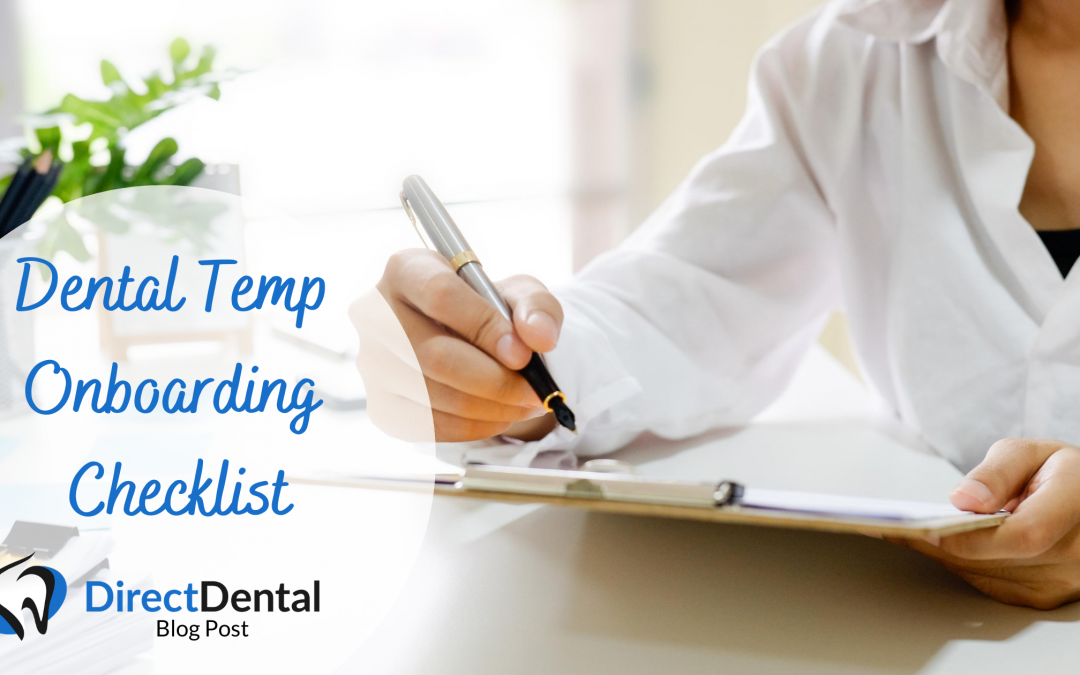 Dental Temp Onboarding Checklist